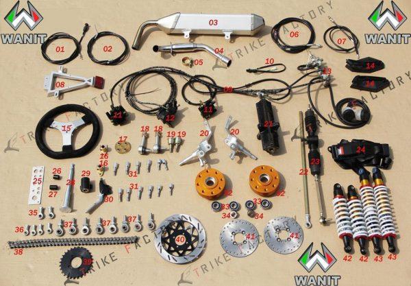 wanit muffler-steering-system-wire-break-system-suspensions-