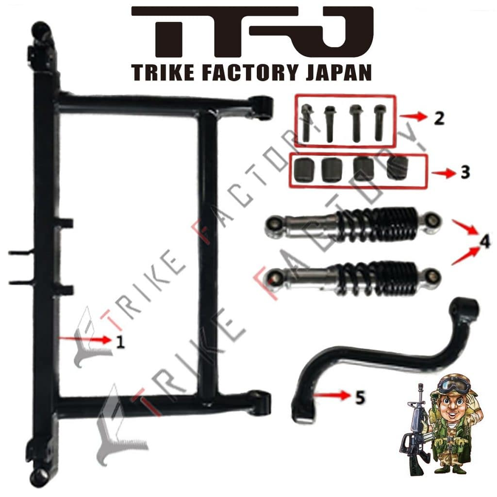 Front-swing-arm-EV-Mini-Jeep sPARE pARTS