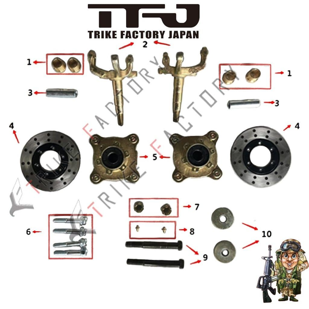 Hub-Disc-EV-Mini-Jeep spare parts