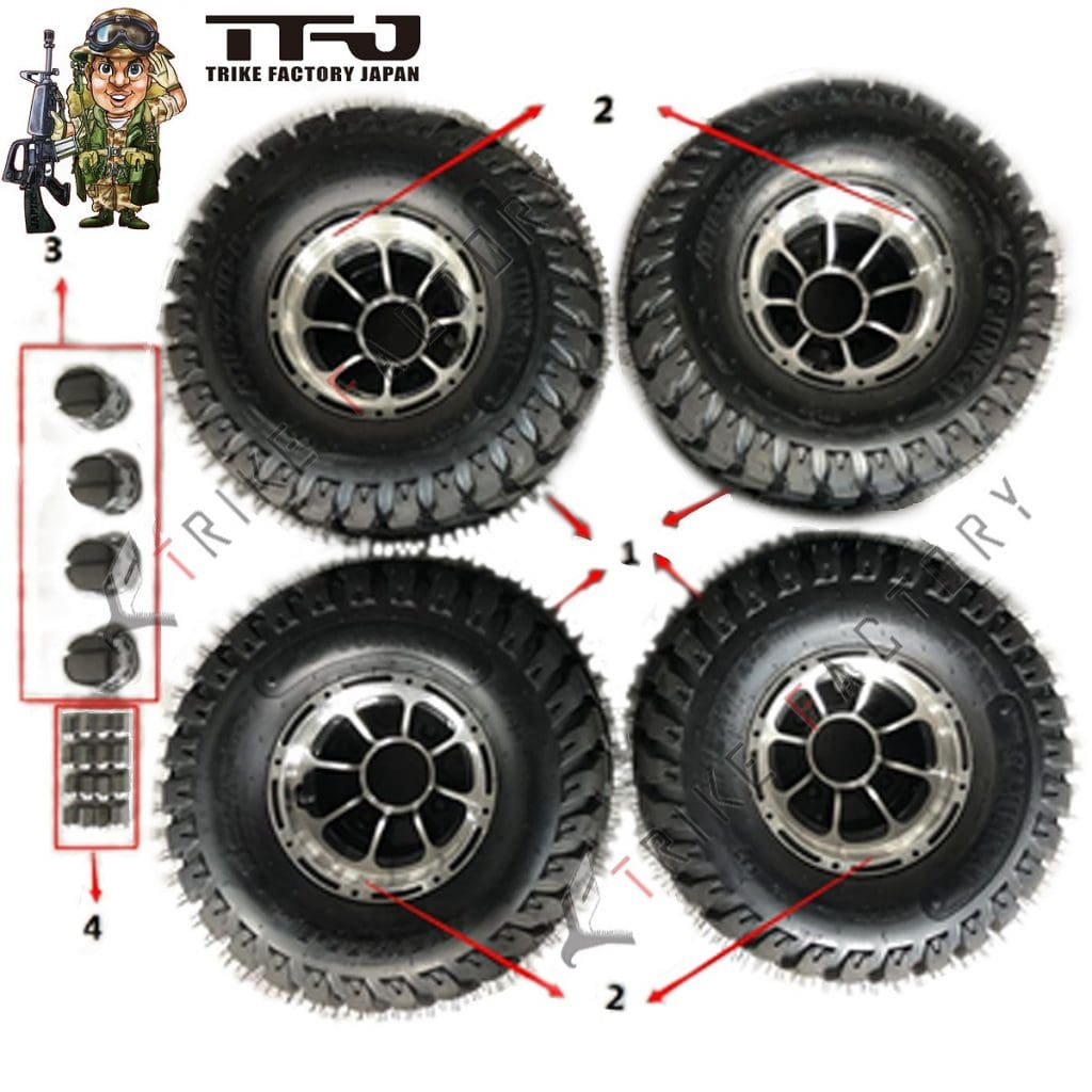wheel-tire-EV-Mini-Jeep Spare Parts