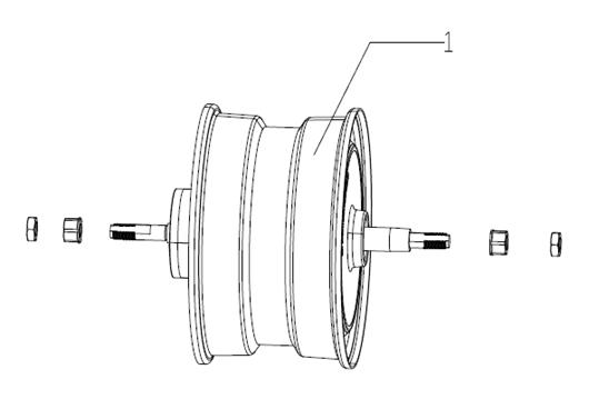 2021年電動バイクビーチマッドパーツハブモーターアセンブリ1